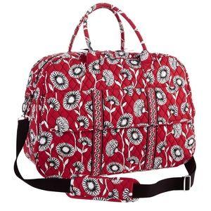 Vera Bradley Red Deco Weekender Bag